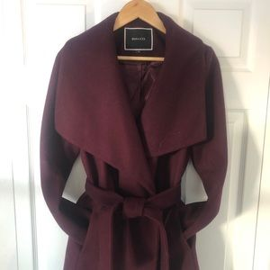 RW and CO Burgundy Cocoon Wool Jacket